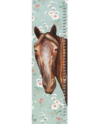 Harriet Bee Keid Horse Floral Canvas Growth Chart HBEE1544