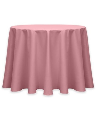 Twill 60-Inch Round Tablecloth in Dusty Rose