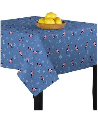 """The Holiday Aisle Mcgregor Snow Birds Tablecloth W000936887 Size: 54"""" W x 54"""" L"""