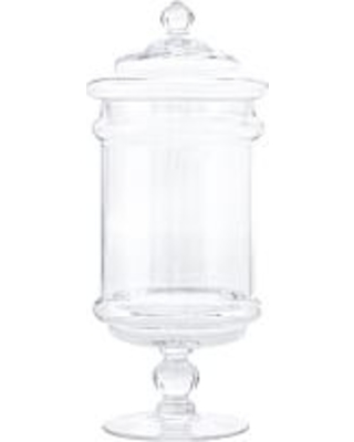 Classic Handcrafted Glass Apothecary Jar, Small