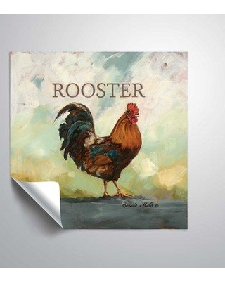 """August Grove 'Raleigh the Rooster' Graphic Art Print BI094482 Size: 24"""" H x 24"""" W Format: Plastic"""