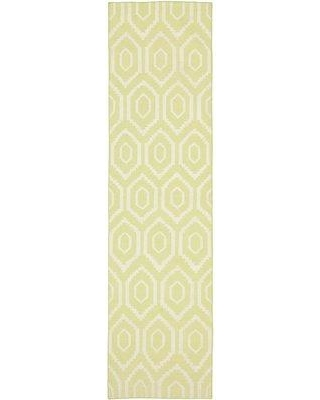 "Trule Teen Bundy Yellow/Ivory Area Rug W001365154 Rug Size: Runner 2'6"" x 10'"
