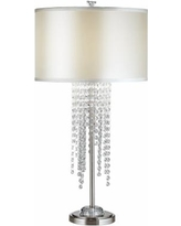 Cassie Crystal Casscade Table Lamp