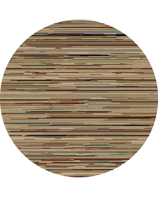 Concord Global Trading Jewel Striation Stripes Multi 5 ft. Round Area Rug