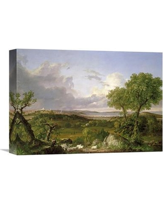 "Global Gallery 'View of Boston' by Thomas Cole Painting Print on Wrapped Canvas GCS-267867- Size: 11.5"" H x 16"" W x 1.5"" D"