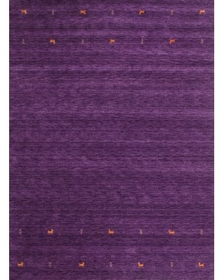 Contemporary Violet/Pink Area Rug East Urban Home Rug Size: Rectangle 2' x 5'