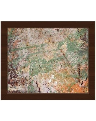 "Click Wall Art 'Jade Fissure' Framed Painting Print ABS0000735F Format: Espresso Framed Size: 18.5"" H x 22.5"" W"