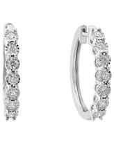 Effy Silver 0.96 ct. t.w. Diamond Miracle Hoops in Sterling Silver