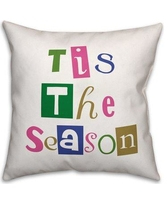 "The Holiday Aisle Tis the Season Throw Pillow THDA8078 Size: 20"" x 20"", Type: Throw Pillow"
