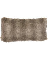 Wooded River Faux Fur Lumbar Pillow WD904