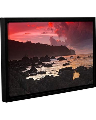 """Latitude Run Red Sky At Night Framed Photographic Print LTRN6227 Size: 32"""" H x 48"""" W"""