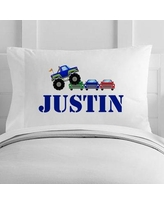 4 Wooden Shoes Personalized Monster Truck Rally Toddler Pillow Case WF-12-110