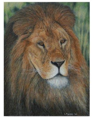 "World Menagerie 'Moment of Calmness' Acrylic Painting Print on Wrapped Canvas WRME2855 Size: 47"" H x 35"" W x 2"" D"