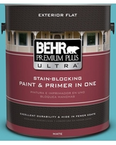 Amazing Deals On Behr Ultra 1 Gal Mq4 3 Coral Fountain Flat Exterior Paint And Primer In One