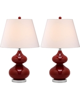 Table Lamp - Chinese Red/White - Safavieh