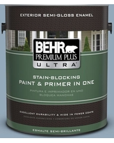 Can T Miss Deals On Behr Ultra 1 Gal Ppu14 08 Paris Semi Gloss Enamel Exterior Paint And Primer In One