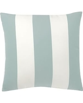 "Sunbrella(R) Awning Stripe Indoor/Outdoor Pillow, 24"", Spa Blue"