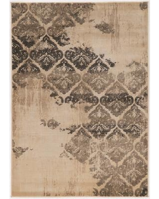 """Bungalow Rose Pasho Beige/Black Area Rug BNGL7060 Rug Size: Rectangle 8' x 10'4"""""""