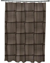 Wrought Studio Urijah Geometric Print Shower Curtain VRKG4511 Color: Brown