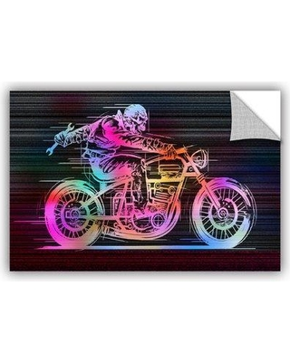 """ArtWall Moto IV' by Greg Simanson Graphic Art Removable Wall Decal JJM7871 Size: 16"""" H x 24"""" W x 0.1"""" D"""