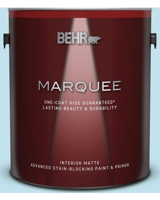 BEHR MARQUEE 1 gal. #540C-2 Serene Sky Matte Interior Paint and Primer in One