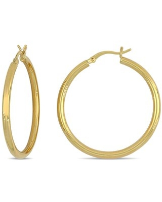 10k Yellow Gold 35mm Hoop Earrings