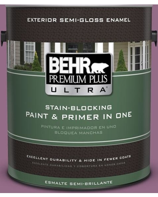 BEHR ULTRA 1 gal. #M110-6 Sophisticated Lilac Semi-Gloss Enamel Exterior Paint and Primer in One