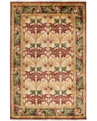 Darby Home Co Pritchard Hand-Knotted Wool Beige Area Rug DBHC3408 Rug Size: Rectangle 5' x 8'
