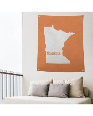 """East Urban Home Minneapolis Minnesota Indoor/Outdoor Wall Tapestry EBIU5488 Size: 80"""" H x 59"""" W Color: Orange"""