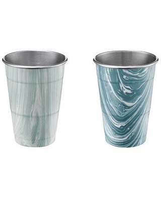 Wrought Studio Tunstall 18 oz. Stainless Steel All Purpose Wine Glass W001774868 Color: Teal