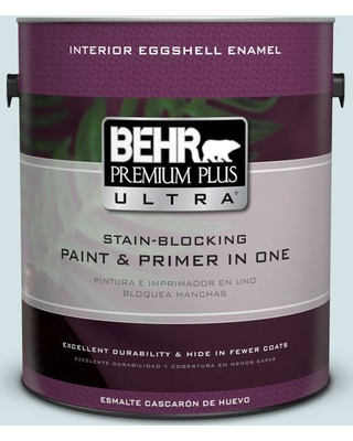 BEHR ULTRA 1 gal. #PPL-72 Spa Retreat Eggshell Enamel Interior Paint and Primer in One