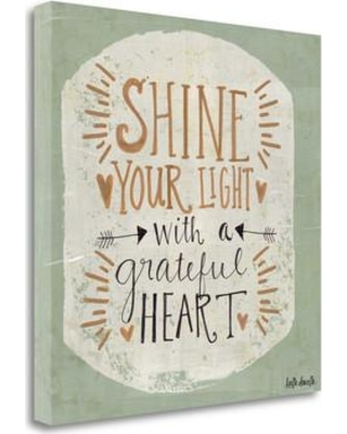 Tangletown Fine Art 'Grateful Heart' by Katie Doucette Textual Art on Wrapped Canvas SBKA1088-2020c