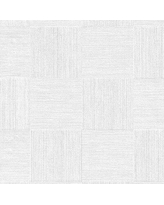 "Mercer41 Cheatwood 33' L x 21"" W 3D Embossed Wallpaper Roll X111465221 Color: Baby Blue"