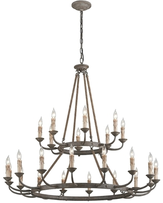 Cyrano 24-light Earthen Bronze Chandelier (Earthen Bronze)