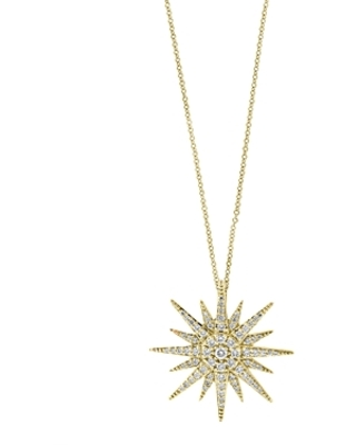 Bloomingdale's Diamond Starburst Pendant Necklace in 14K Yellow Gold, 0.45 ct. t.w. - 100% Exclusive