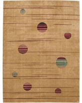 Nourison Overstock Parallels Gold 2 ft. x 4 ft. Area Rug