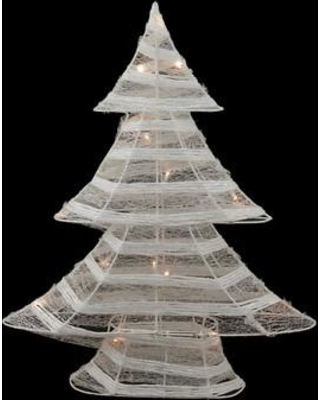 Northlight Battery Operated Glittered LED Lighted Christmas Tree Table Top Decoration 31748782