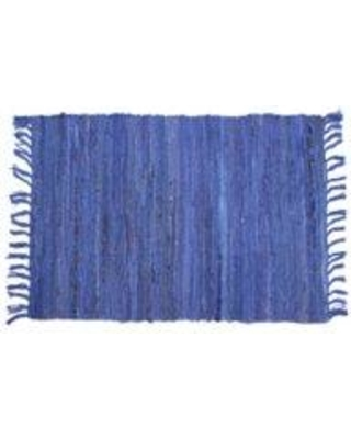 """Breakwater Bay Madeleine Hand-Hooked Cotton Blue Area Rug W001675575 Rug Size: Rectangle 2'6"""" x 3'8"""""""