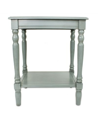 Decor Therapy Simplify End Table in Antique Artic Blue