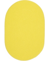 Joy Braids Solid Yellow 7 ft. x 9 ft. Oval Indoor/Outdoor Braided Area Rug