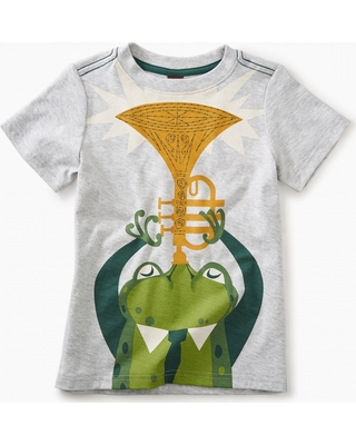 Tea Collection Jazz Frog Graphic Tee