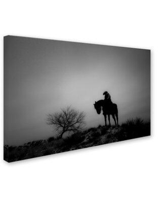 """Trademark Fine Art 'Silence' Photographic Print on Wrapped Canvas ALI7970-C Size: 12"""" H x 19"""" W x 2"""" D"""