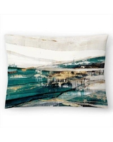"East Urban Home PI Creative Art Version Delighted Version Lumbar Pillow, Polyester/Polyfill/Synthetic in Blue/Teal, Size 14""H x 20""W 
