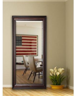 "Darby Home Co Dexter Walnut Full Length Beveled Body Mirror DRBC3450 Size: 70"" H x 29.5"" W x 1"" D"