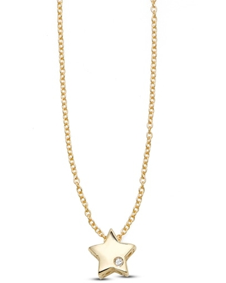 Jared The Galleria Of Jewelry Star Necklace Diamond Accents 14K Yellow Gold