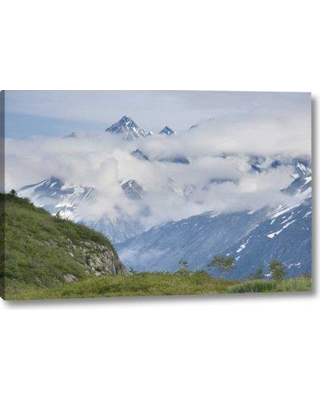 """Millwood Pines 'Alaska Glacier Bay Np Clouds over Mountain' Photographic Print on Wrapped Canvas BF152378 Size: 16"""" H x 24"""" W x 1.5"""" D"""