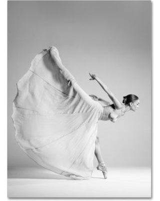 """Trademark Fine Art 'Woman Dancing' Photographic Print on Wrapped Canvas 1X01843-C Size: 32"""" H x 24"""" W"""