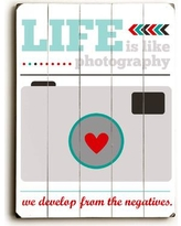 Artehouse LLC Life is Life Photography by Cheryl Overton Graphic Art Plaque 0004-3838-26