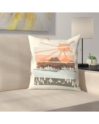 """East Urban Home Morning By Bear River Throw Pillow ETHF2892 Size: 20"""" x 20"""""""