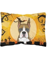 The Holiday Aisle Jersey Halloween Boxer Fabric Indoor/Outdoor Throw Pillow BF148790